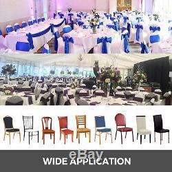 100PCS White Spandex Lycra Chair Covers For Wedding Party Event Banquet Decor