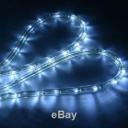 100' 2 Wire LED Rope Light Christmas Decorative Party In/Outdoor 110V Cool White