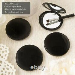100 Black Compact Mirrors Wedding Bridal Shower Party Favors