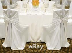 100 Universal Satin Chair Covers Wedding Party Decorations 3 Colors