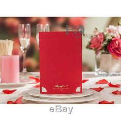 100 Wedding Invitation Cards with Envelopes, Seals, Custom Personalized Printing