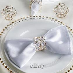 100 pcs GOLD Faux Crystal Design NAPKIN RINGS Wedding Party Catering Dinner
