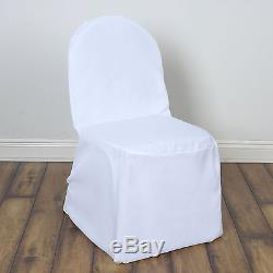 100 pcs White POLYESTER BANQUET CHAIR COVERS Wedding Reception Party Decorations