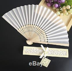 100 x Personalised Wedding Favours, Wedding Favour Fans, Personalised Fans