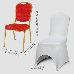 100pcs Spandex Stretch Wedding Banquet Chair Cover Party Decor Dining Room Seat
