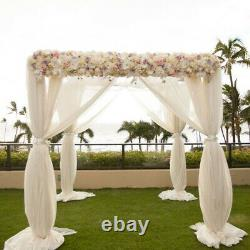 10FT Wedding Backdrop Stand Outdoor Canopy Tent Chuppah Modern Metal Photo