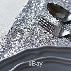 10 20 50 Silver Sequin Table Runners Sparkly Bling Wedding Party Decor 12x118
