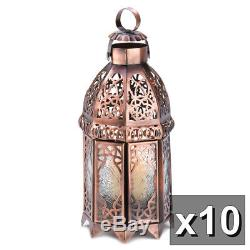 10 Copper Moroccan Style Candle Lamp Lantern Wedding Centerpieces New13366