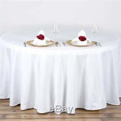 10 Pack 120 in. Polyester Seamless TableclothWeddingNEW