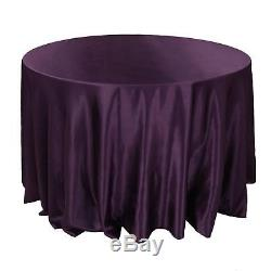 10 Pack 90 Round Wedding Satin Tablecloths 30 Colors Made in USA