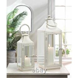 10 Traditional White Lantern 12 in Candle Holder Centerpieces