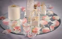 10 pcs Round 8 Glass MIRROR Wedding Table Decorations PARTY Centerpieces