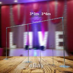 10ft x10 ft /20 ft Photography Backdrop Heavy Duty Stand Kit Background Wedding
