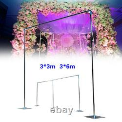 10x10ft/10x20ft Wedding Party Backdrop Stand Pipe Kit Curtain Frame Telescopic