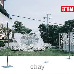 10x20ft Wedding Party Backdrop Stand Pipe Kit Stainless Telescopic Curtain Frame