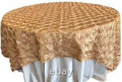 11 Piece Lot Deco Rose Gold 90x90 Square Tablecloth Toppers