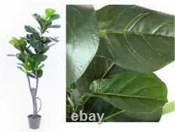 120Cm Artificial Fiddle Leave Fig Potted Home/Office/Wedding Decor Plant Indoor