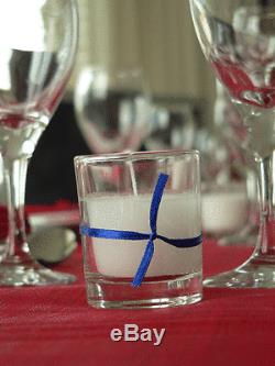 120 BULK 6cm Wedding Event Function Party Votive Candle White Wax Glass Holder