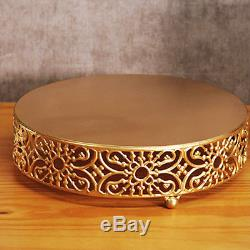 12Pcs Antique Cake Stand Round Cupcake Stands Metal Dessert Display Crystal Gift