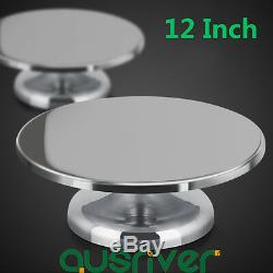 12 Inch Cake Making Turntable Stainless Steel Rotating Decorating Platform Stand