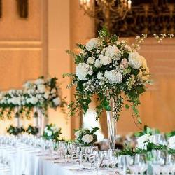12 pcs 20 tall Trumpet Clear Glass Vases Party Wedding Centerpieces WHOLESALE