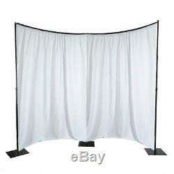 13ftx11ft Wide Heavy Duty Metal Curved Curtain Backdrop Stand Stage Decoration