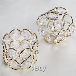 152 pcs GOLD Faux Crystal Design NAPKIN RINGS Wedding Party Catering Dinner