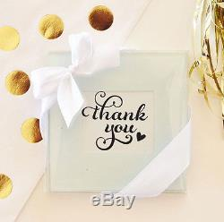 200 Glass Photo Coaster Wedding Placecard Favor 100 sets of 2