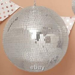 20 Large Silver Glass Hanging Disco Mirror Ball Wedding Party Decorations SALE