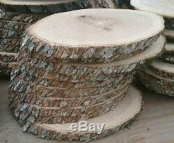 20 Pc 11 to12Oak Log oval Slices Wood Disk Rustic Wedding Centerpiece Coaster