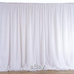 20 ft x 10 ft WHITE Fabric BACKDROP Wedding Party Photobooth Curtain Decorations