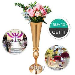 22 Metal Vase Centerpiece Stand Candle Holder Wedding Flower Table Decor 10Pack
