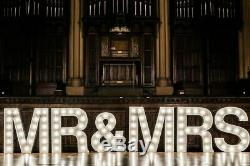 24hr HIRE Mr And Mrs Giant 4ft Light Up Letters Wedding Hire Hull / Yorkshire