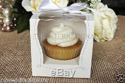 25/50/100 White Cupcake Muffin Cake Boxes Party Shower Favor Gift Container 3.5