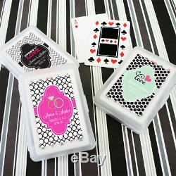 260 Personalized Themed Playing CARDS Birthday Bridal Wedding or Party Favor