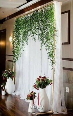 2m x 3m GOLD SQUARE ARCHWAY BACKDROP ARCH WEDDING BALLOON EVENTS