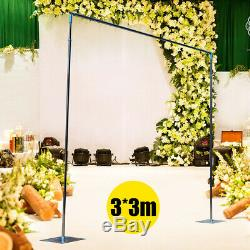 33M Wedding Backdrop Pipe Stand Kit Curtain Frame for Wedding Event Party