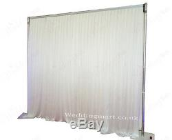 3Mx3M White Pleated Wedding Backdrop Curtain for SALE (10ft x 10ft)