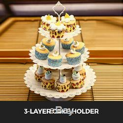 3/6/9/12/14Pcs Cake Holder Cupcake Stand Metal Baby Shower Wedding With Crystal