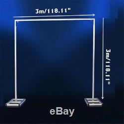 3x3m 10x10ft Wedding Party Backdrop Stand Pipe Kit Curtain Frame Telescopic