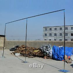 3x3m/6x3m Backdrop Stand Pipe Wedding Curtain Frame Telescopic Pole Stainless