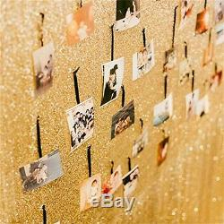 4Ft7Ft Sparkly Photo Booth Backdrop Gold Sequin Fabric Gold Wedding Curtain