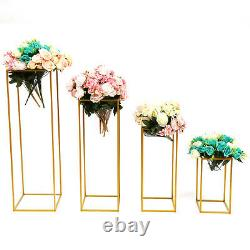 4Pcs Geometric Metal Stands Flower Vase Holders Wedding Party Home Centerpiece