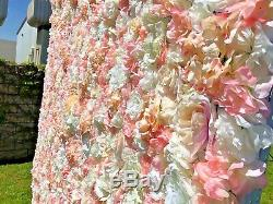 4ft×8ft Artificial High Density Flower Wall For Party's Backdrop Decor Champange
