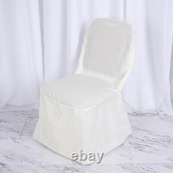 50 Ivory POLYESTER BANQUET CHAIR COVERS Wholesale Wedding Party Decorations