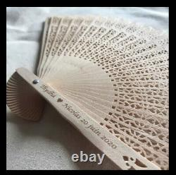 50 Personalised Wedding Fans Wedding Favours