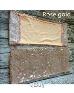 50 Rose Gold Chair Sashes Spandex For Sweet 16, Banquets, Wedding Or Party Event