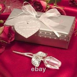 50 Silver Long Stem Clear Crystal Rose Wedding Bridal Shower Party Favors