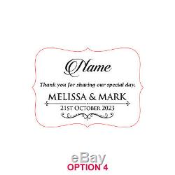 50x Personalised Acrylic Wedding Thank You Name Place Cards
