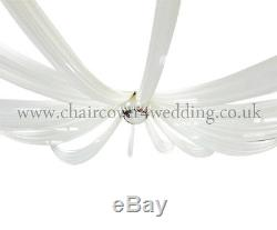 55 Wide x 3ft Length (1.4m W x 10m L) Sheer Voile Ceiling Drape with Velcro
